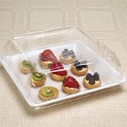 Party Tray Square Dome Lid Only, 12 x 12 inch -- 50 per case.
