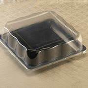 Party Tray Square Pet Dome Lid Only, 14 x 14 inch -- 50 per case.