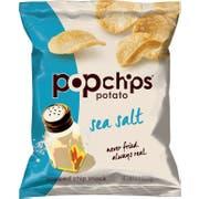 Popchips Sea Salt Popped Potato Chips, 0.8 Ounce -- 24 per case.