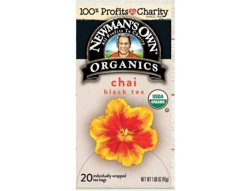 Newmans Own Organics Chai Black Tea, 20 tea bags per pack -- 6 per case