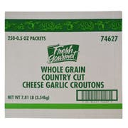 Fresh Gourmet Country Cut Cheese and Garlic Whole Grain Croutons, 0.5 Ounce -- 250 per case.