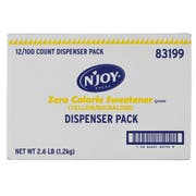 Njoy Yellow Sucralose Sugar Substitute, 1 Gram -- 144 per case.