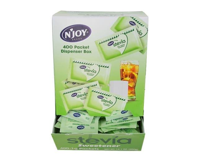 Njoy Green Stevia Sugar Substitute, 1 Gram -- 1600 per case.