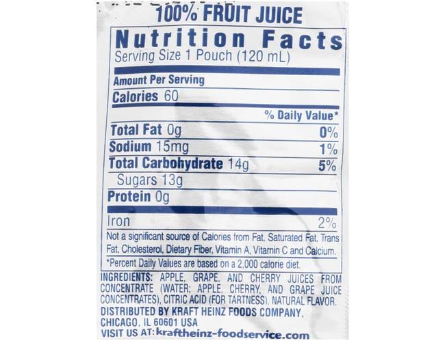 Capri Sun 100 Percent Fruit Punch Pouch, 4 Fluid Ounce -- 48 per case
