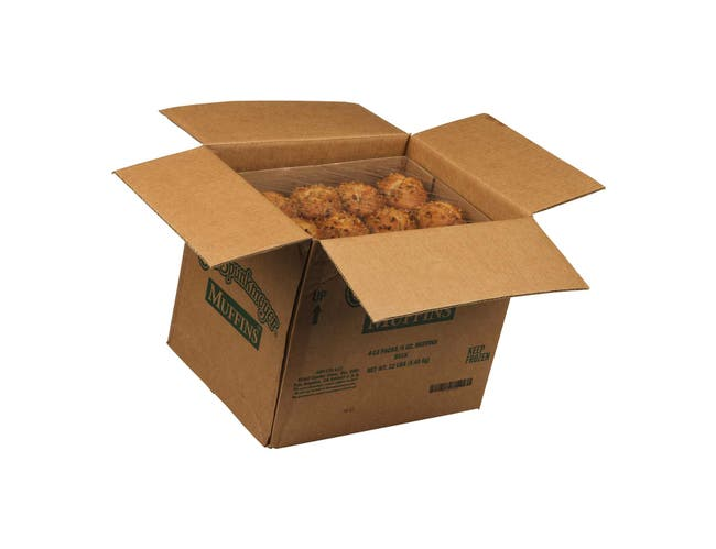 Otis Spunkmeyer Delicious Essentials Banana Nut Muffin, 4 Ounce -- 48 per case.