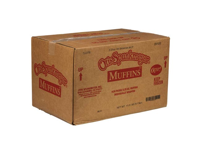 Otis Spunkmeyer Delicious Essentials Banana Nut Muffin, 2.25 Ounce -- 96 per case.