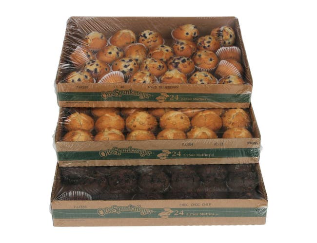 Otis Spunkmeyer Delicious Essentials Variety Muffin, 2.25 Ounce -- 96 per case.