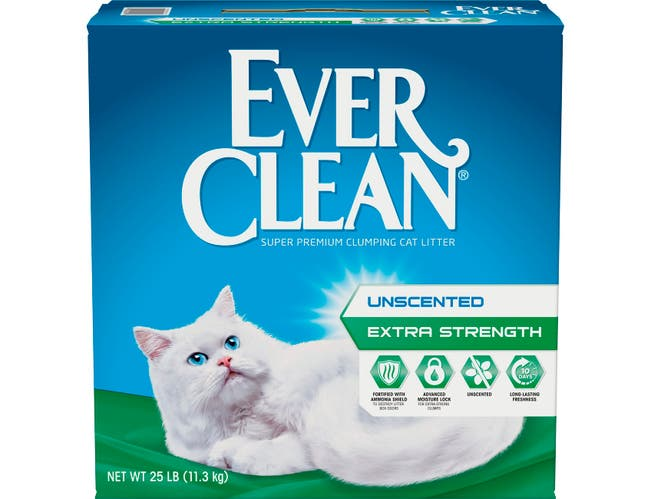 Ever Clean Extra Strength Unscented Cat Litter, 25 Pound -- 1 each