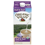 Organic Valley UHT Half and Half Ultra Pasteurized Milk, 64 Fluid Ounce -- 6 per case.