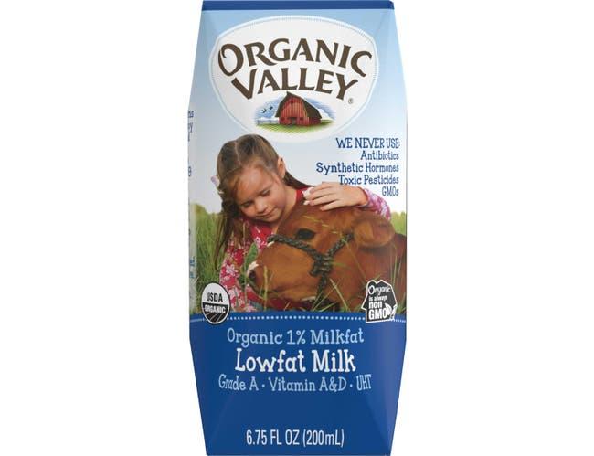 Organic Valley UHT White Lowfat Milk, 6.75 Fluid Ounce -- 24 per case.