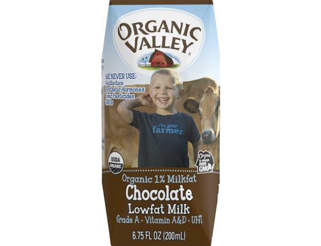 Organic Valley UHT Chocolate Lowfat Milk, 6.75 Fluid Ounce -- 24 per case.