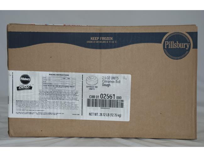 General Mills Pillsbury Best Unbaked Cinnamon Roll Dough, 2.5 Ounce -- 180 per case.