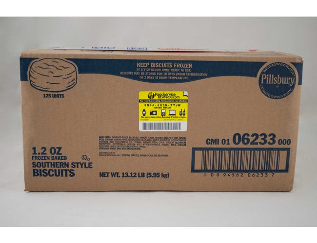 General Mills Pillsbury Baked Mini Southern Style Biscuit, 1.2 Ounce -- 175 per case.