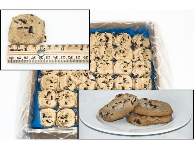 General Mills Pillsbury Best Doughboys Chocolate Chunk Cookie Dough, 1.5 Ounce -- 216 per case.
