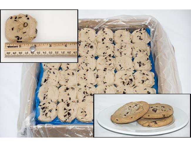 General Mills Pillsbury Best Doughboys Chocolate Chip Cookie Dough, 1.5 Ounce -- 216 per case.