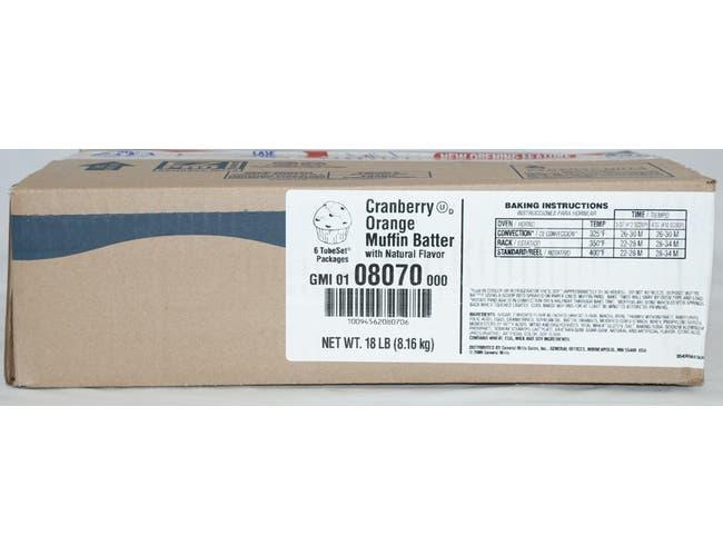 General Mills Pillsbury Tubeset Cranberry Orange Muffin Batter, 3 Pound -- 6 per case.
