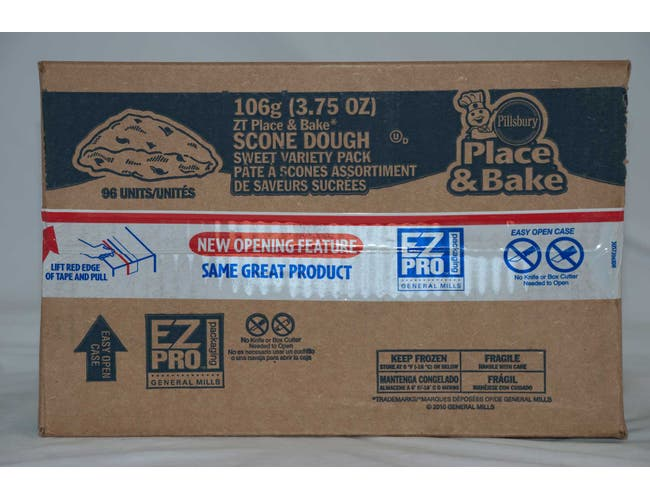 Pillsburry Freezer to Oven Variety Pack, Brown Sugar, Chocolate, Blueberry Scone 3.75 ounce each -- 96 per case.