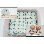 General Mills Pillsbury Place and Bake Blueberry Muffin Batter Pucks, 1.5 Ounce -- 216 per case.