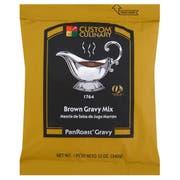 Custom Culinary PanRoast Brown Gravy Mix, 12 Ounce -- 8 per case.