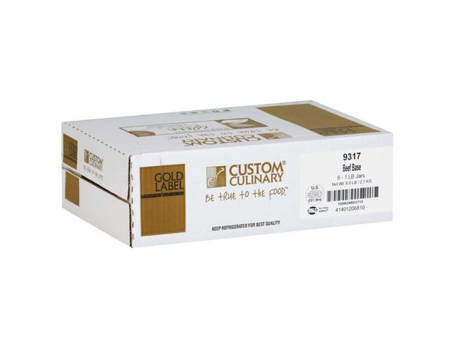 Custom Culinary Gold Label Beef Base, 1 Pound -- 6 per case.