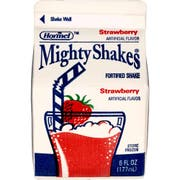 MightyShakes Strawberry Shake Beverage, 6 Ounce -- 50 per case.