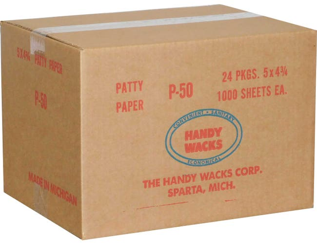 5X4.75 Patty Paper -- 24 case -- 1000 count