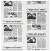 12X12 News Paper Print Tissue Wrap -- 6 case -- 1000 count