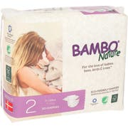 Bambo Nature Size 2 Baby Diaper - 30 count per pack -- 6 packs per case
