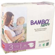 Bambo Nature Size 3 Baby Diaper - 33 count per pack -- 6 packs per case