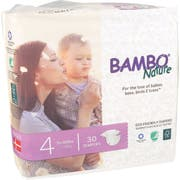 Bambo Nature Size 4 Baby Diaper - 30 count per pack -- 6 packs per case