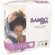 Bambo Nature Size 5 Baby Diaper - 27 count per pack -- 6 packs per case