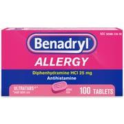 Benadryl Ultratab Allergy Tablets, 100 per unit -- 72 per case