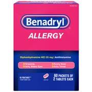 Benadryl Antihistamine Allergy Tablets, 120 per unit -- 12 per case