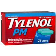 Tylenol PM Extra Strength Acetaminophen Pain Reliever Nighttime Sleep Aid Caplet, 24 per unit -- 72 per case