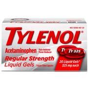 Tylenol Regular Strength Liquid Gels - 20 count per pack -- 72 packs per case