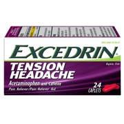 Excedrin 500 Milligram Tension Headache Pain Reliever, 24 count per pack -- 24 per case.