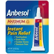 Anbesol Maximum Strength Oral Anesthetic Toothache Pain Relief Gel, 0.33 Ounce -- 36 per case
