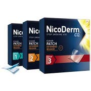 NicoDerm CQ 3 Step Patch Stop Smoking Aid - 14 count per pack -- 12 packs per case