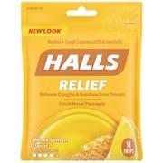 Halls Mentho Lyptus Honey Lemon Cough Drop, 0.02 Pound - 12 count per pack -- 4 packs per case