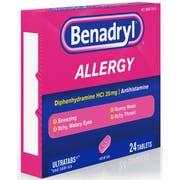 Pfizer Benadryl Allergy Ultratab Tablet, 24 per unit -- 24 boxes per case