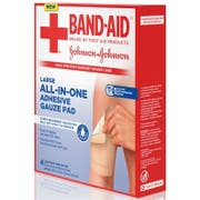 Johnson and Johnson Large All in One Adhesive Gauze Pad, 4 count per pack -- 24 per case.