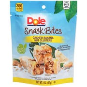 Dole Snack Bites Cashew Banana Nut Cluster, 2 Ounce -- 12 per case
