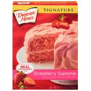 Duncan Hines Signature Strawberry Supreme Cake Mix, 15.25 Ounce -- 12 per case.