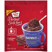 Duncan Hines Perfect Size for 1 Brownie Mix, 2.6 Ounce -- 12 per case.