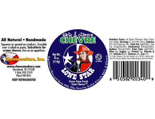 Cheesemakers Roasted Garlic Cila Chevre Cheese, 4 Ounce -- 8 per case.