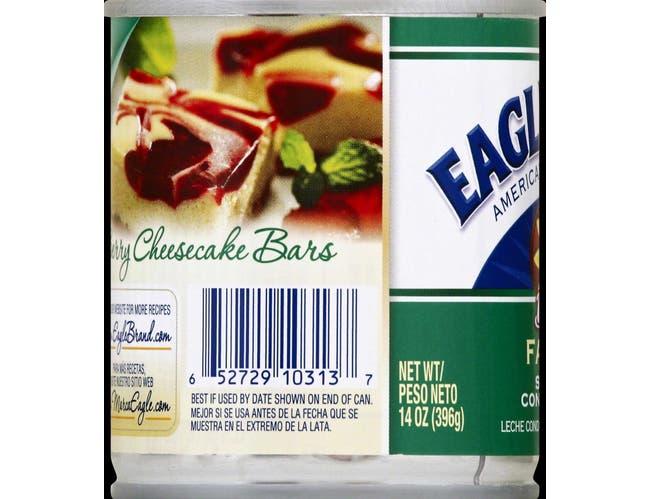 Eagle Brand Non Fat Sweetened Condensed Milk, 14 Ounce -- 24 per case.