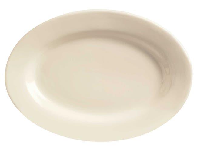 World Tableware Princess White Ultima Cream White Platter, 13.5 inch -- 12 per case
