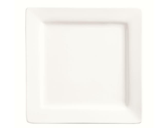 World Tableware Slate Porcelain Ultra Bright White Square Plate, 7.25 inch -- 24 per case