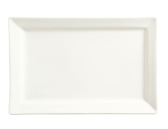 World Tableware Slate Collection Porcelain Ultra Bright White Rectangular Plate, 12 x 8 inch -- 12 per case