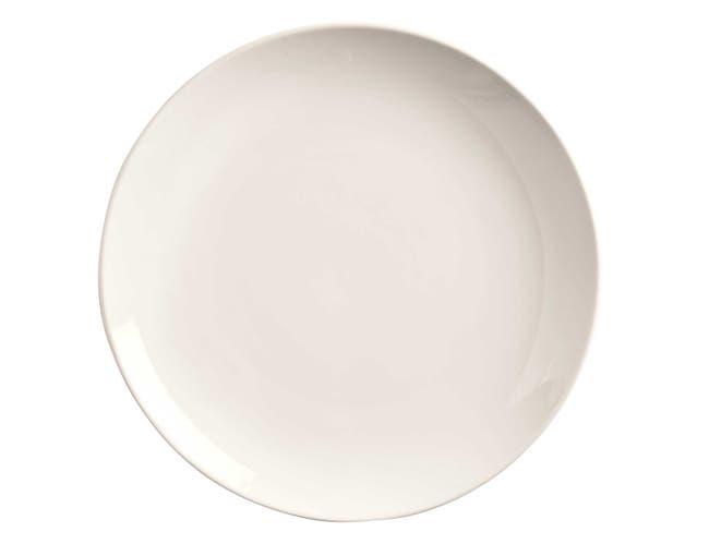 World Tableware Porcelana Bright White Coupe Round Plate, 6.5 inch -- 36 per case.